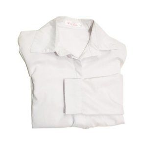 FIRST LADY Light Solid White Blouse